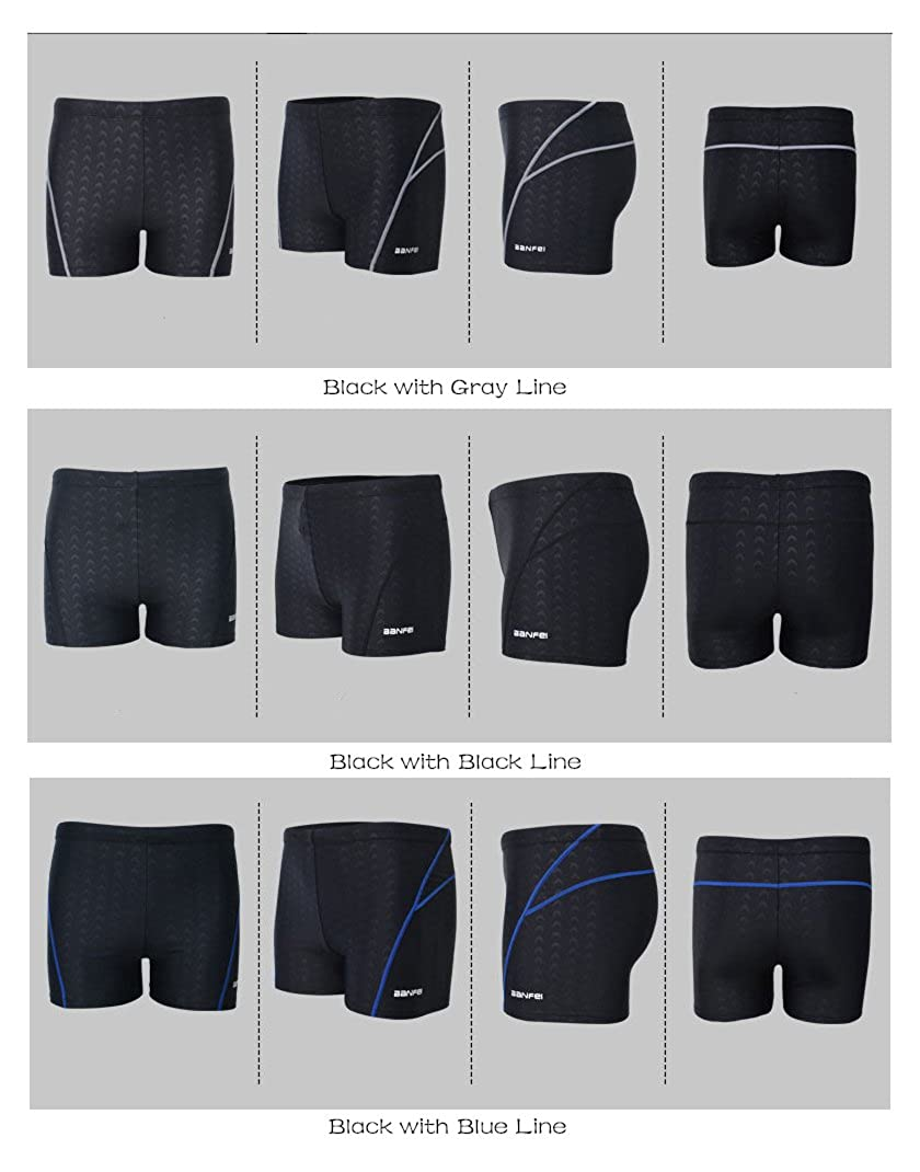 Men Flat Swim Trunks Imitation Shark Skin Swimsuit Waterproof Swimming Trousers