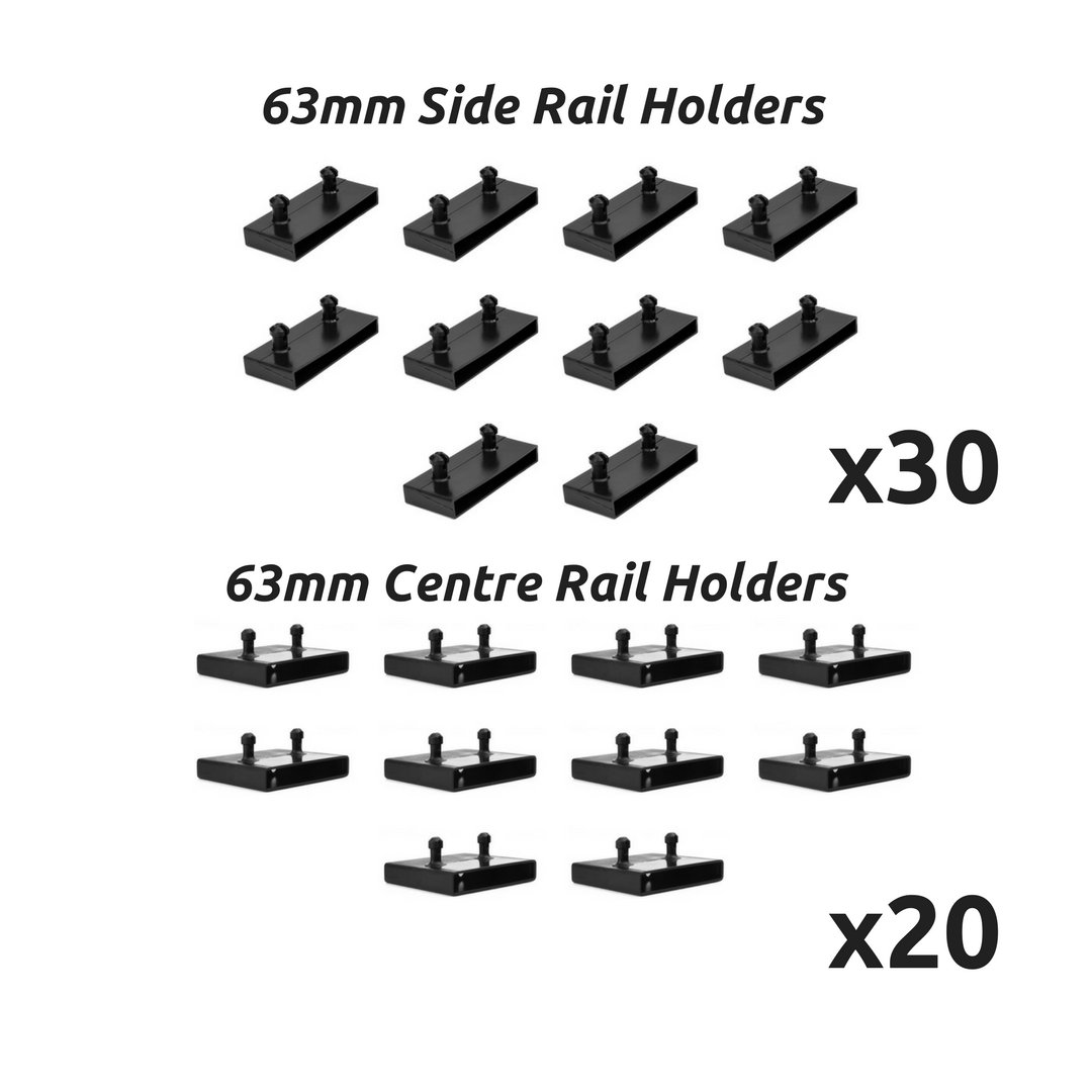 63mm Bed Slat Holders Kits Bundles for Metal Beds 30 Sides and 20 Centres The Bed Slats Company