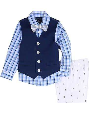 c4c3bdd37e6c Nautica Baby Boys 4-Piece Set with Dress Shirt, Vest, Shorts, and