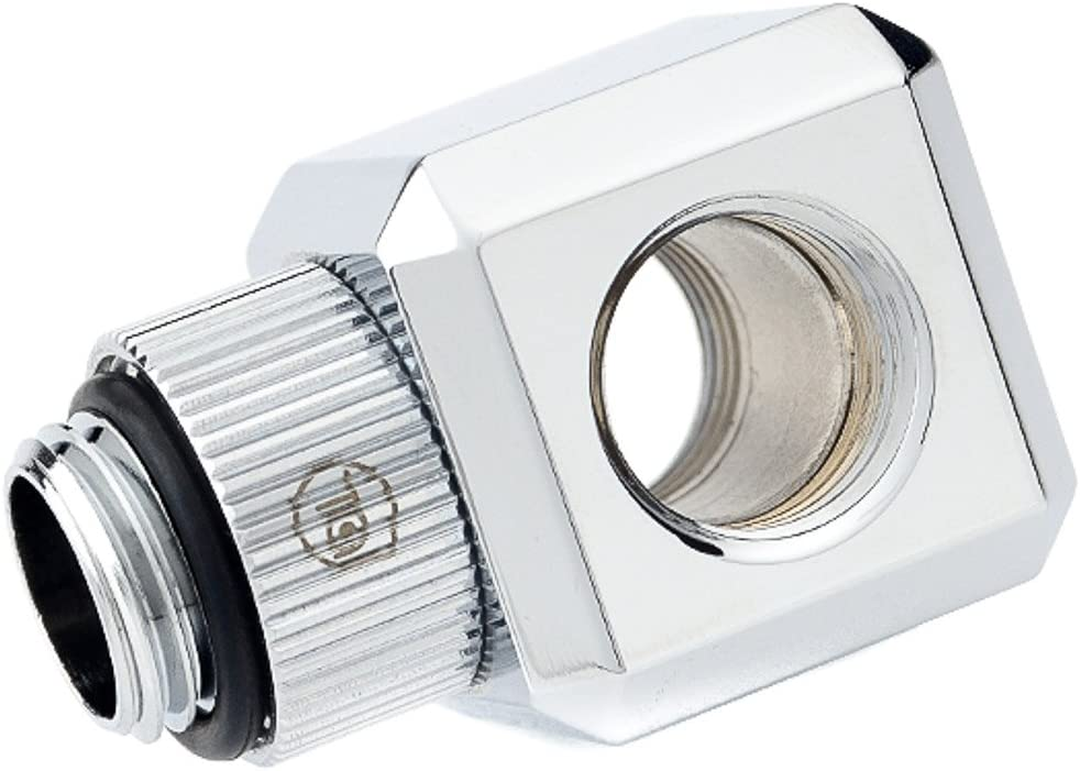 2-pack Glorious Silver Rotary Bitspower Touchaqua G1//4 T-Block Fitting
