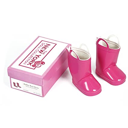 Amazon.com  Pink Rain Boots for 18 Inch Dolls - Shoes for American ... 13459856f66