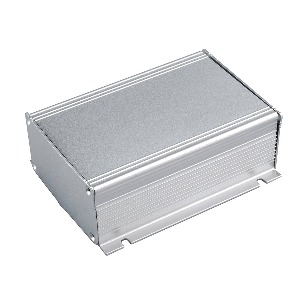 Eightwood Extruded Aluminum Project Box Electronic Enclosure Case with Flange DIY - 4.33'' x 2.91'' x 1.50''(LengthWidthHeight)