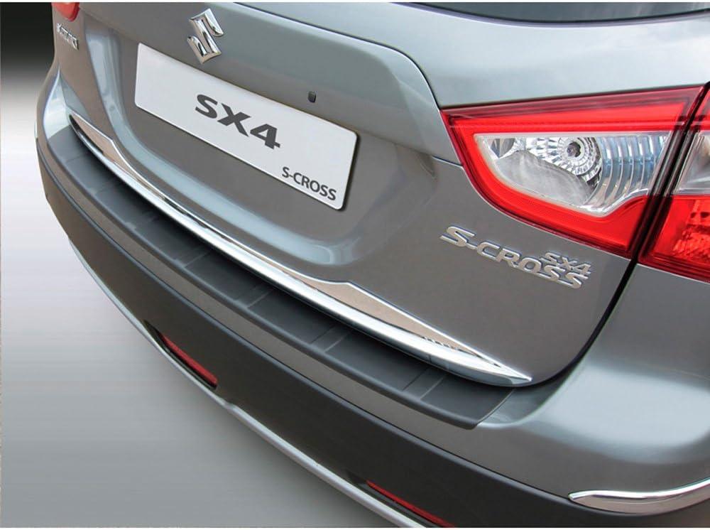 AUTOSTYLE ABS Rear bumper protector Suzuki SX4 S-Cross 10//2013 Ribbed Black