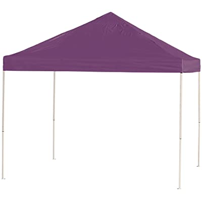ShelterLogic Easy Set-Up 10 x 10-Feet Straight Leg 50+ UPF Protection Pop-Up Canopy with Roller Storage Bag for the Beach, Park, Tailgating, and Other Outdoor Activities, Purple: Sports & Outdoors