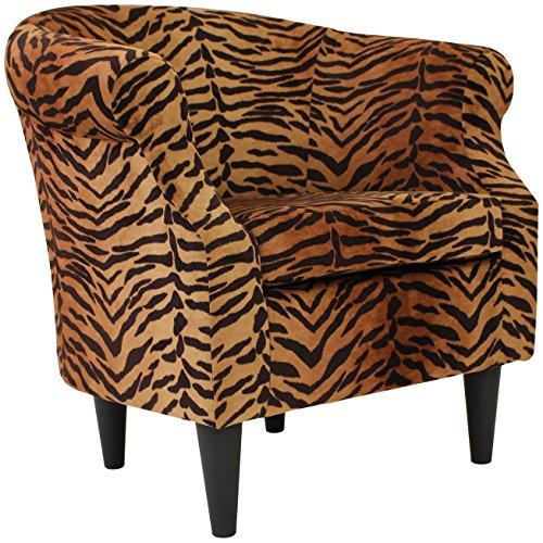 Parker Lane uch-nik-pon1 Safari Club Chair, Tiger Print - 2