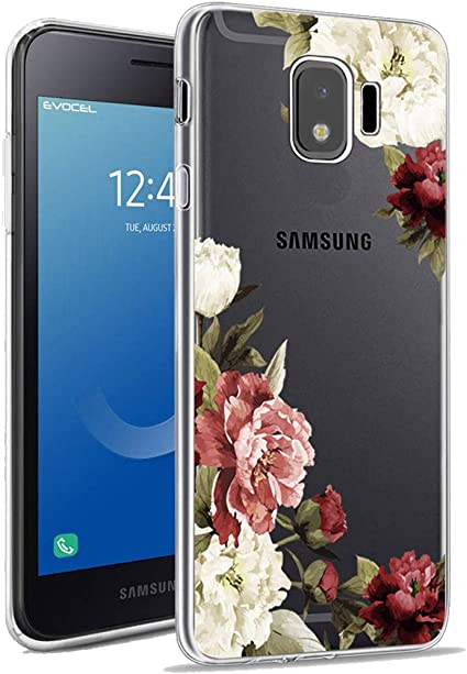 J2 Dash 2 X Samsung Galaxy J2 Core Case with 2 Pack Glass Screen Protector Phone Case for Men Women Girls Clear Soft TPU with Protective Bumper Cover Case for Samsung J2 J2 Pure,J260
