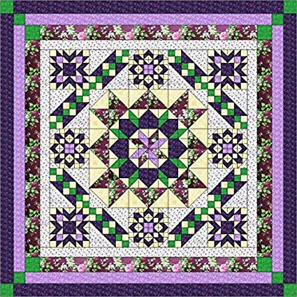 Amazon.com: Quilt Kit Hexagon Stars, Purples/Queen