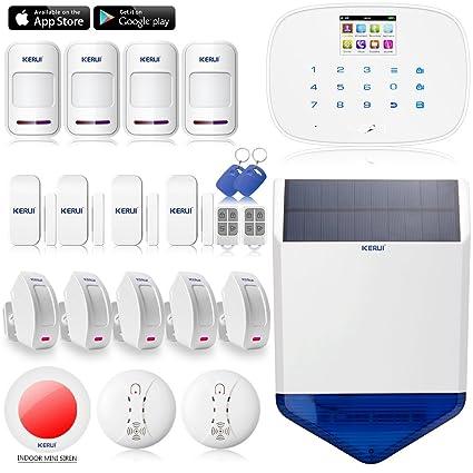 KERUI – G19 Systeme alarma seguridad hogar inalámbrico GSM, alarma MAGNETIQUE movimiento inalámbrico puerta ventana