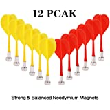 EITPOTON Magnetic Darts, Replacement Dart Game Safety Plastic Darts, Kids Toys Gift for Boys Girls Age 5 6 7 8 9 10 11 12 13 14 15 16 Years Old, 12 Pack
