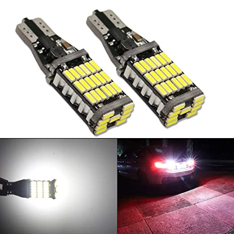 W16W T15 LED Reverse Bulbs Bright CANBUS Error Free 3030 Chips Car Bulbs 22SMD