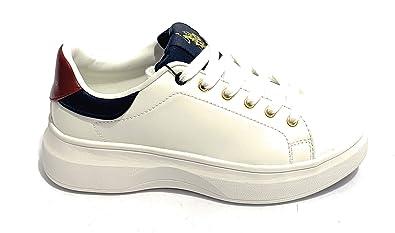 Scarpe Donna Sneaker US Polo Mod. Miriam Club in Ecopelle White ...