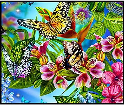 DIY 5D Diamond Painting Embroidery Flower Animals Cross Crafts Stitch Kit Decor