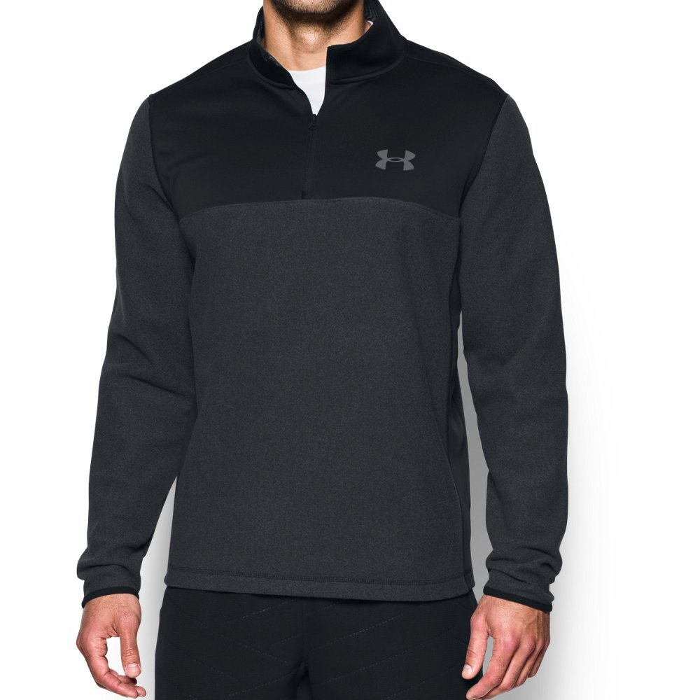 Under Armour Men's Coldgear Infrared Fleece ¼ Zip Sweat Shirt,Black (001)/Graphite, Small by Under Armour (Image #1)