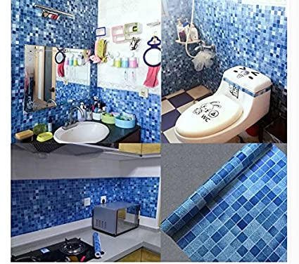 ammwzl Mosaic adesivi bagno piastrelle bagno impermeabile ...