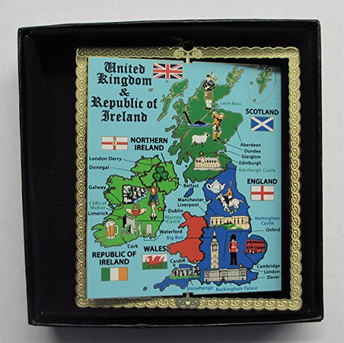 United Kingdom England Ireland Scotland Map Ornament (Decorations Uk Christmas)