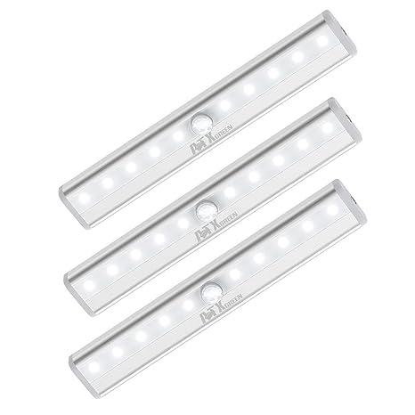 Luz de armario, ATXgreen sensor de movimiento luz nocturna (3 ...