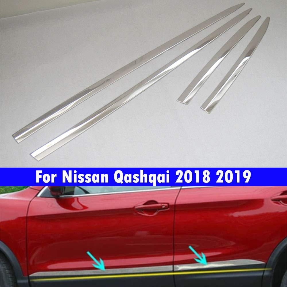 rivestimento portiera auto per Qashqai 2018 2019 4 pezzi ABS galvanostegia acciaio inossidabile