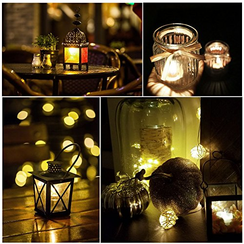Homemory Battery Tea Lights With Timer, 6 Hours on and 18 Hours Off in 24 Hours Cycle Automatically, Pack of 12 Timing LED Candle Lights in Warm White by Homemory (Image #3)