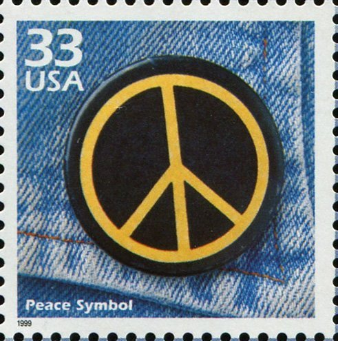 Peace Symbol The Peace Sign Postage Stamp (Scott #3188m)