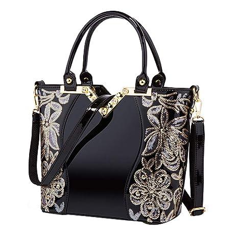 8540eb8708c Amazon.com: iShine Women Handbags Patent PU Leather Hobo Shoulder ...