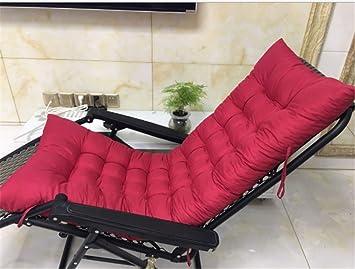 Marbeine - Cojín de Silla Larga para sillón de Relax, Tumbona de jardín o terraza, Rojo Intenso