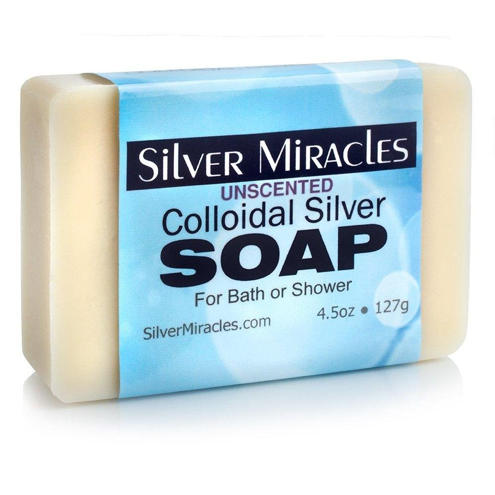 Colloidal Silver Soap, 2 1/2 x 31/2 x 1 Silver Miracles