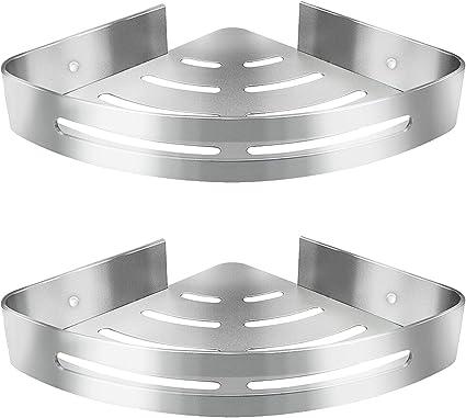 acier inoxydable SUS 304 Triangle paquet de 2 /étag/ères fini poli. Etag/ère pour bac /à douche Mini Kazeila Etag/ère de rangement dangle pour cuisine ou salle de bains
