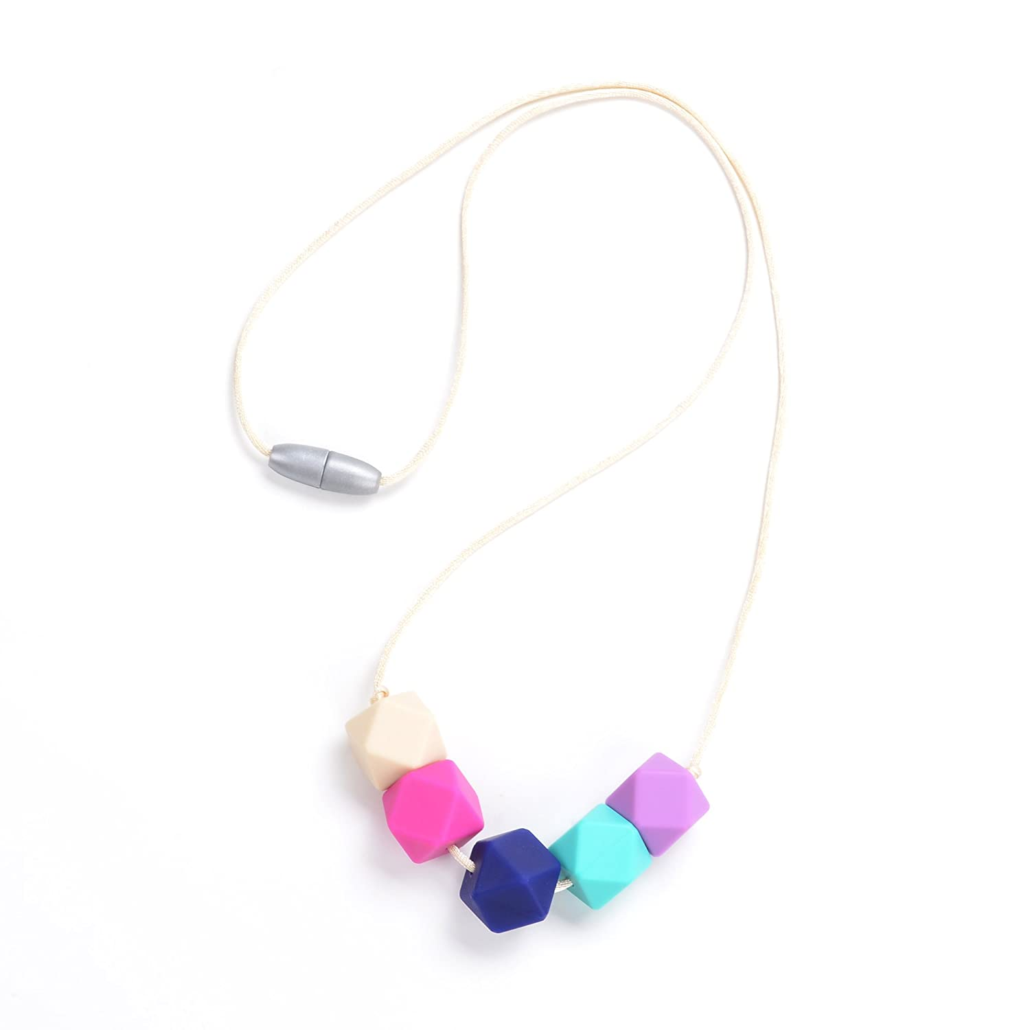 BPA FREE and FDA Approved Consider It Maid Silicone Teething Necklace for Mom to Wear Grey//Mint//Navajo White//Scarlet Red//Purple FREE E-BOOK Down to Earth