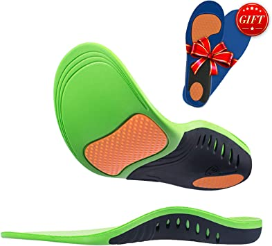 2 Pairs Orthotic Insoles Flat Feet Pronation Arch Support Foot Pain Relief