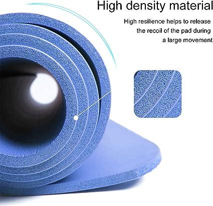 Pilates disponible en noir//bleu//violet//rose//vert//rouge/Également id/éal comme tapis de camping. exercice JLL Tapis de yoga antid/érapant tr/ès /épais de 15/mm pour entra/înement