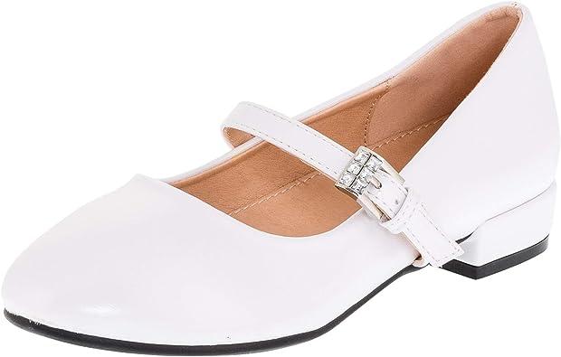 Dorémi Weiße Festliche Mädchen Ballerinas Schuhe in Verschiedenen Designs