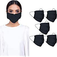 CRAFTSWORTH Reusable Cotton Face Mask for Air Pollution | 3 Layers Safety Masks with Elastic Ear Loop | Snug Fit…