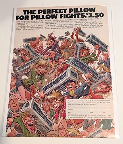 1968 Alka Seltzer Pillow Magazine Print Advertisement