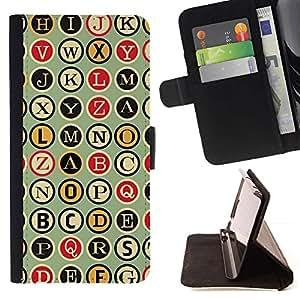 Momo Phone Case / Flip Funda de Cuero Case Cover - Metro Máquina de escribir Patrón Escritor - Sony Xperia Z3 Compact