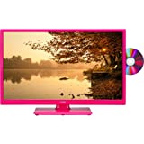 "LOGIK L24HEDP15 24"" LED TV with Built-in DVD Player Pink"