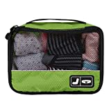 BAGSMART Travel Pouch Sock Storage Boxes Carry-on Organizer Bag, Green