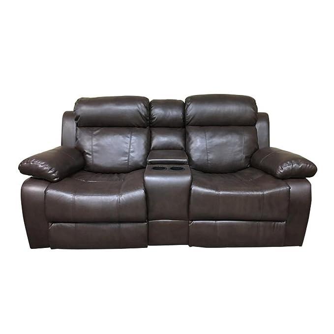 Amazon.com: Coja por sofa4life Murphey piel sintética sofá ...