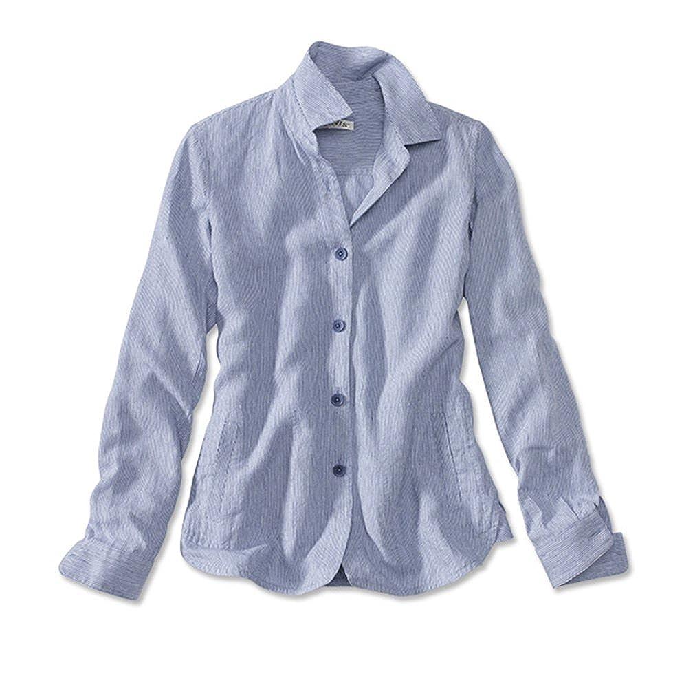3e6acd5e Orvis Women's Shoreline Linen Shirt Jacket at Amazon Women's Clothing store: