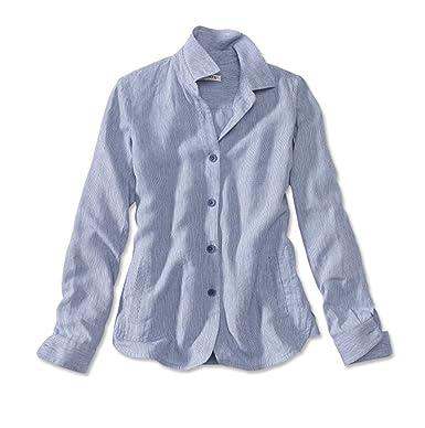 f1fb4bc4cd Orvis Women s Shoreline Linen Shirt Jacket at Amazon Women s Clothing store