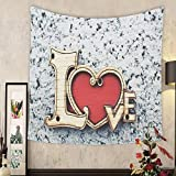 Keshia Dwete Custom tapestry alphabet of love