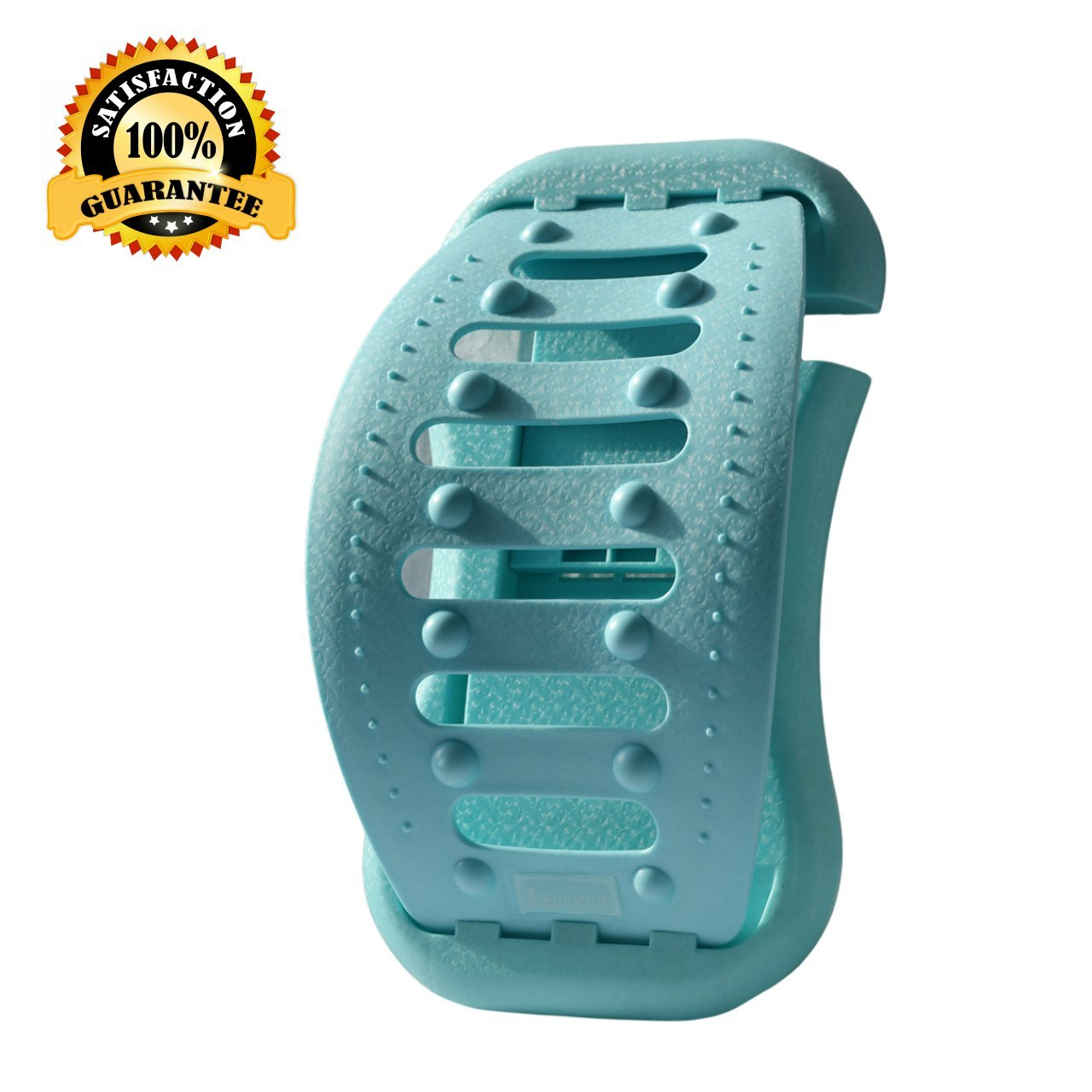 LeWonde Lower Back Pain Relief Back Stretcher, Lumbar Support, Neck Relaxer Pillow with 3 Ajustable Arch-Level