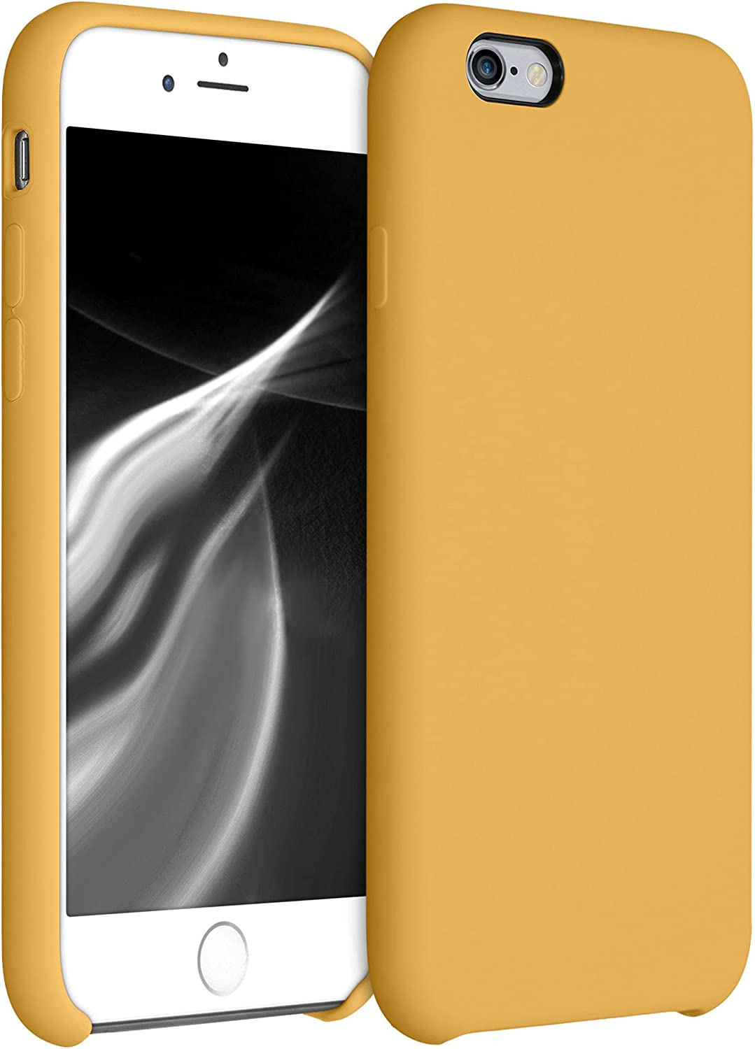 kwmobile TPU Silicone Case Compatible with Apple iPhone 6 / 6S - Case Slim Protective Phone Cover with Soft Finish - Marigold