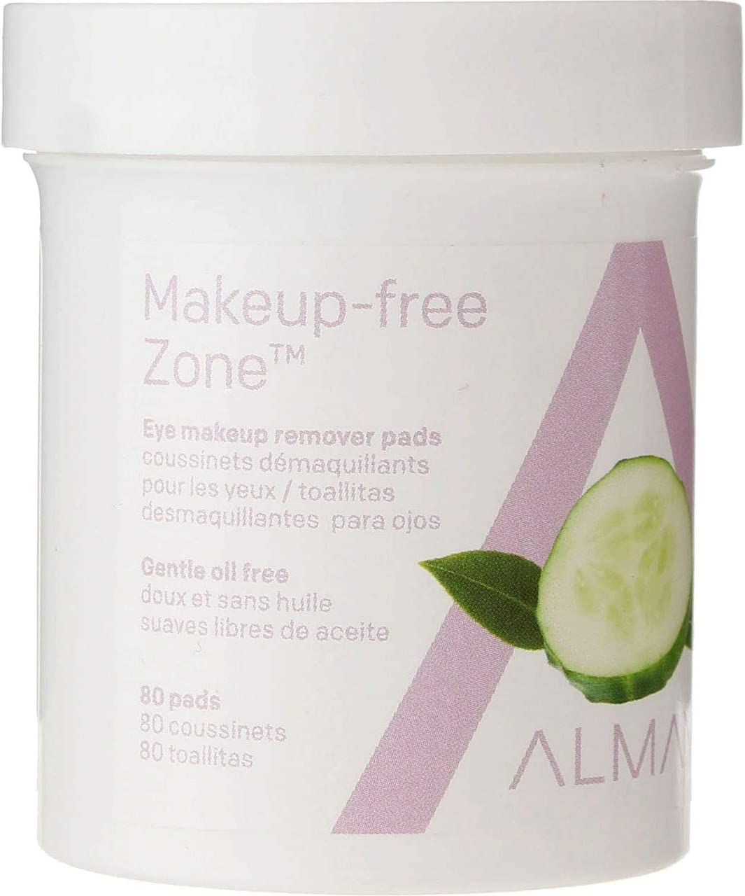 Almay Oil Free Gentle Eye Makeup Remover Pads, 80 Ct (4 Pack)