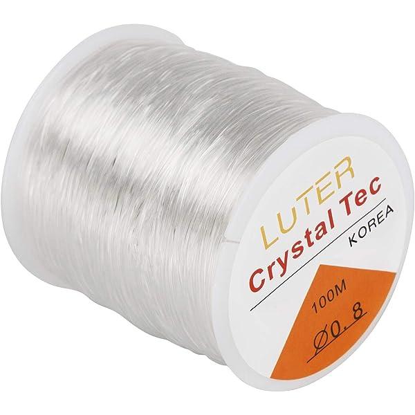 Stretch Elastic Cord Transparent Thread Cord Bracelet Charms Jewelry Making DIY