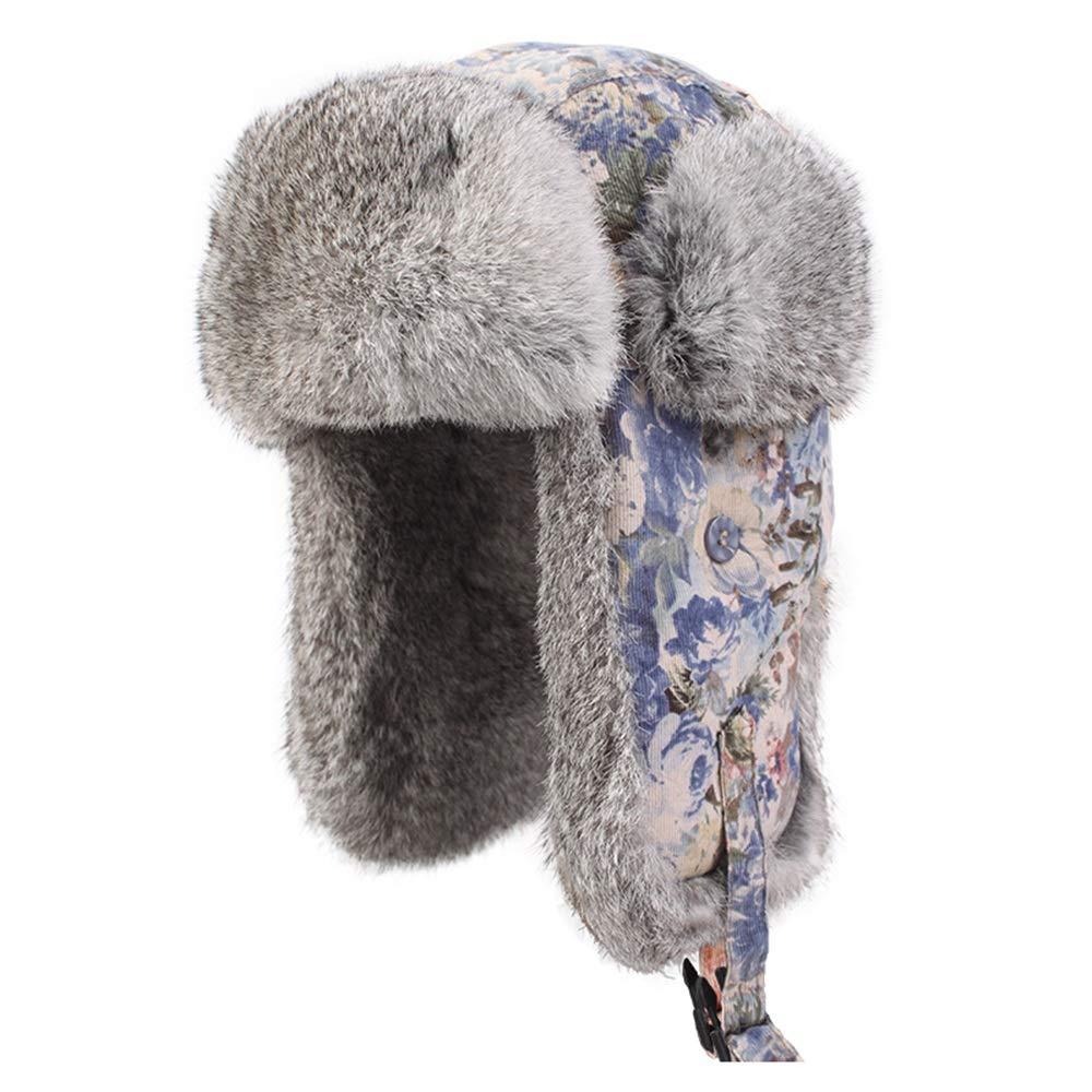 SJJL Hut, Herbst und Winter weibliche Ski Hut Wintermütze Dicke warme Ohrenschützer