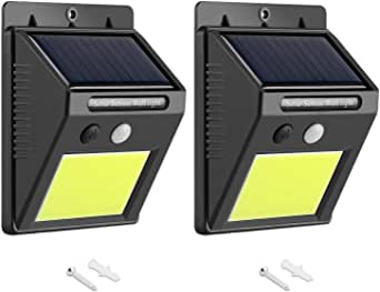 AUSELECT Solar Lights Outdoor 48 LEDs Motion Sensor Wireless Waterproof Security Light, Solar Lights for Patio, Yard, Driveway, Garage, Pathway, 2 Pack