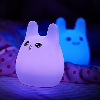 Children Night Light USB Rechargeable Tap Control Kids Night Lamp Mood Light(Happy Rabbit)
