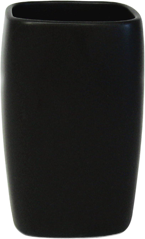 Escobilla para el Inodoro Negro colecci/ón Retro Spirella 42,0 x 11,5 x 11,5 cm Gres
