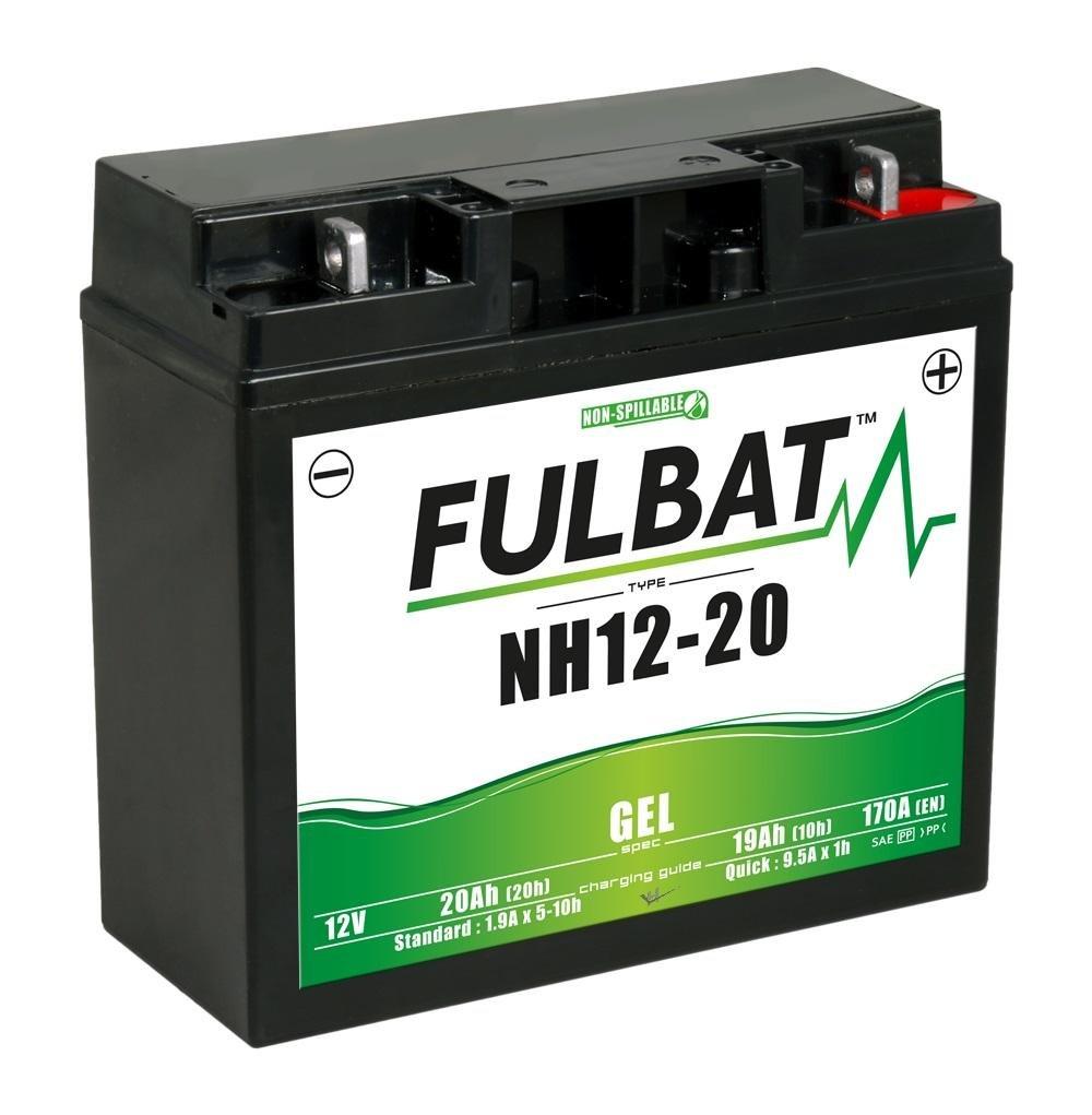 Batería Fulbat NH 12-20 gel: Amazon.es: Coche y moto