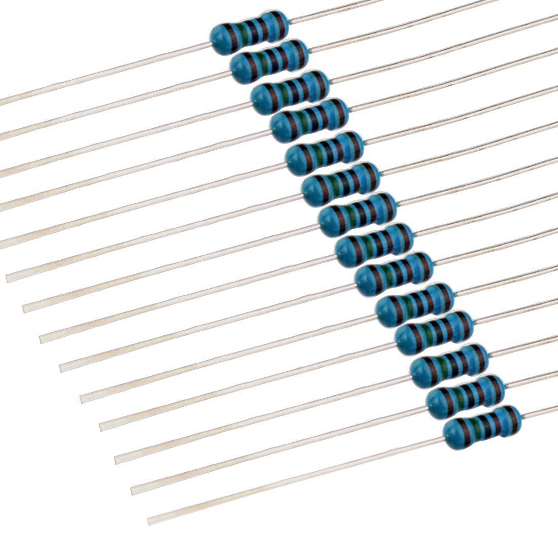 RC 1/4W 1% 130 Value 2600 Piece Resistor Kit,1 Ohm - 3M Ohm 1/4W Metal Film Resistors Assortment